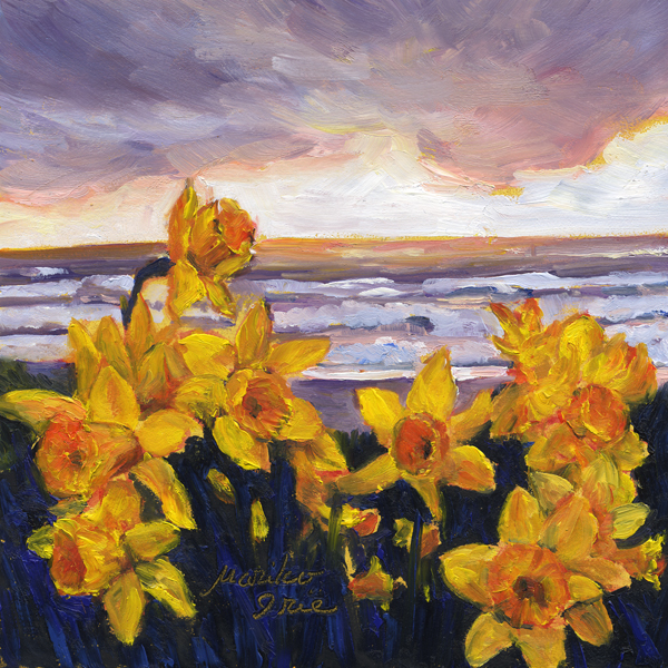 Daffodils by the Sea