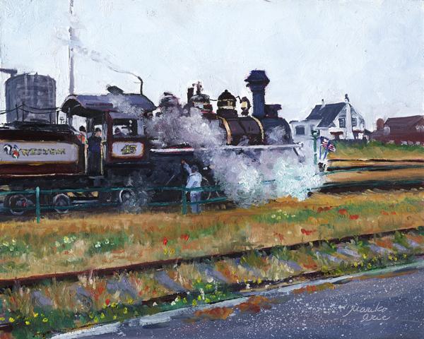 Skunk Train in Fort Bragg