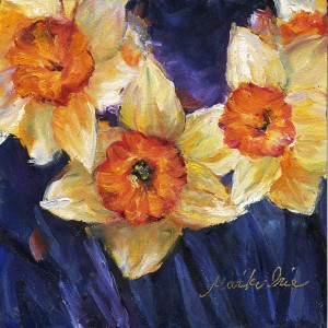 529. Daffodils Oil painting by Mariko Irie
