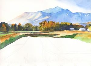 594. Mondrian in Rice Field process 3 by Mariko Irie