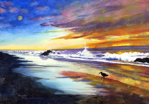 820. Beach at Sunset_blog