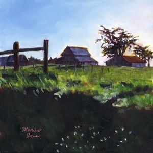 833. Barns at sunset_blog