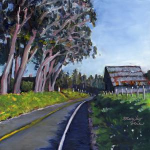 834. Barn and Cypress Trees_blog