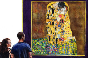 "891. ""Kiss"" by Gustav Klimt_blog"